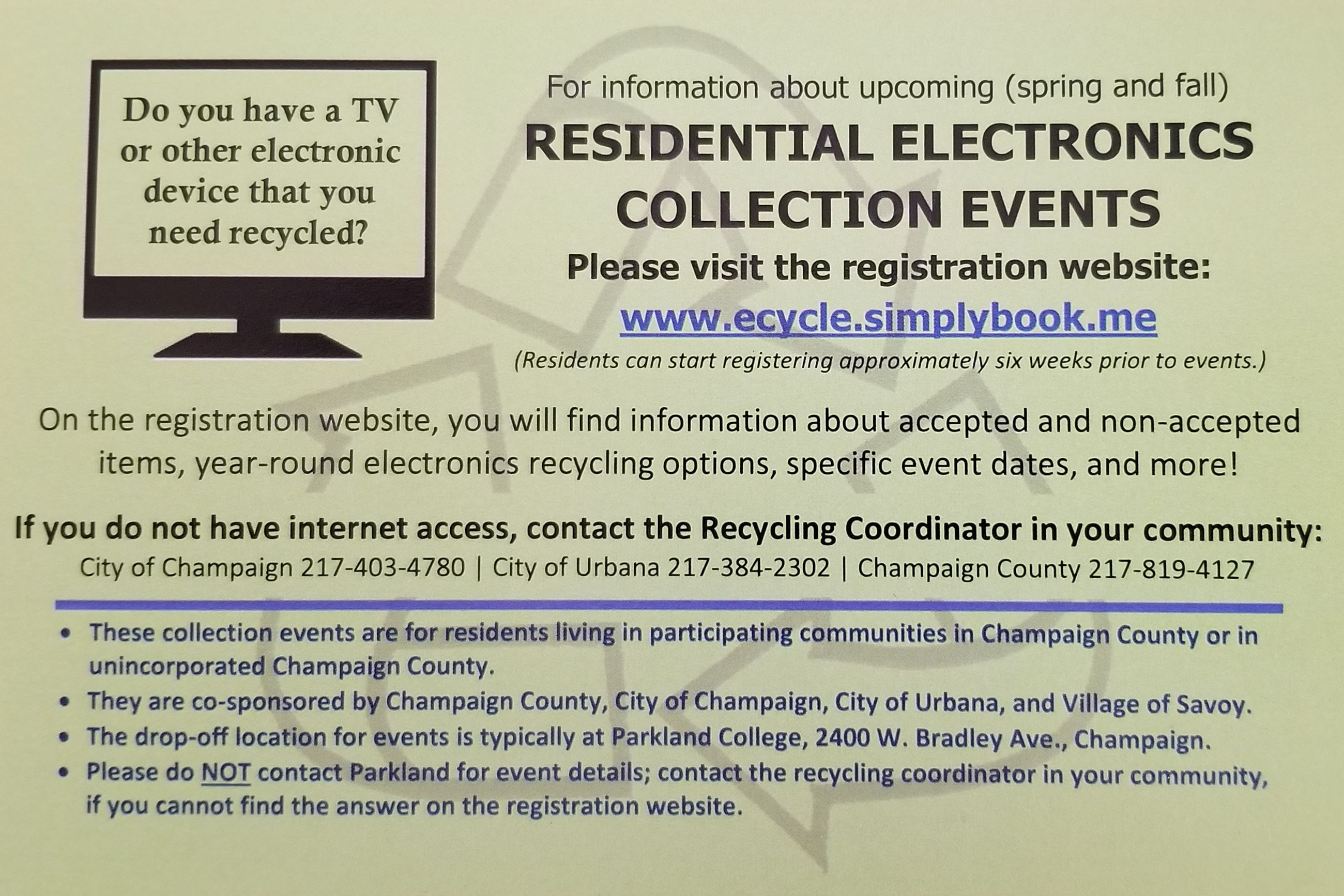 Electronics Collection Events